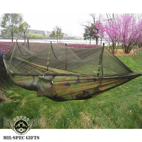2 Person Outdoor Hammock With Mosquito Net