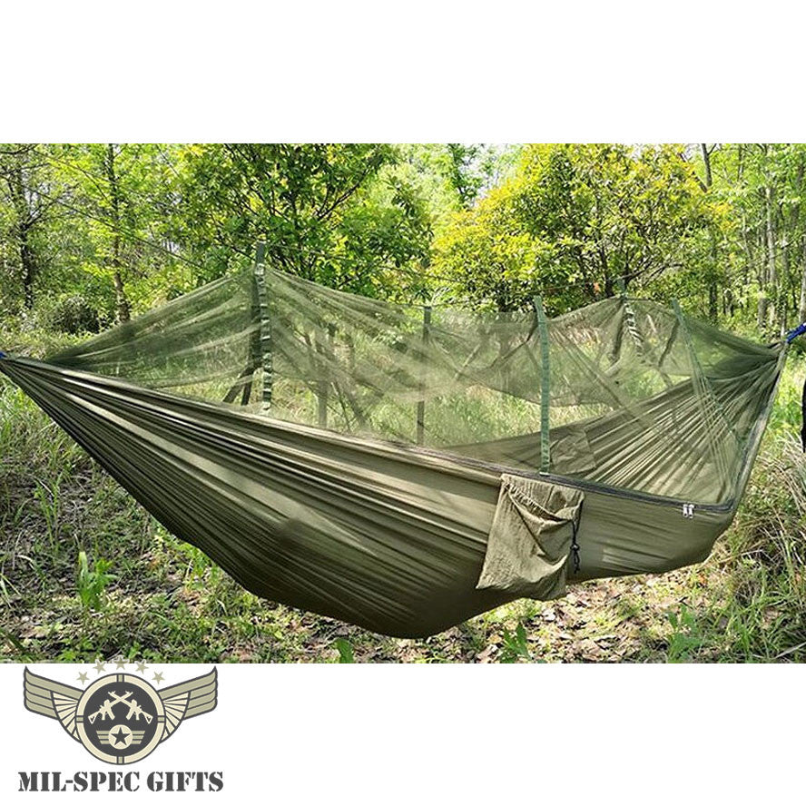 2 Person Outdoor Hammock With Mosquito Net Milspecgifts