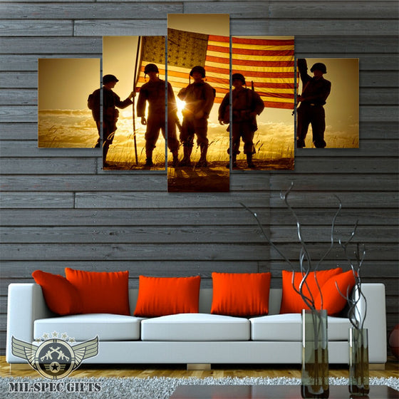 5 Panel Band of Brothers Canvas Print