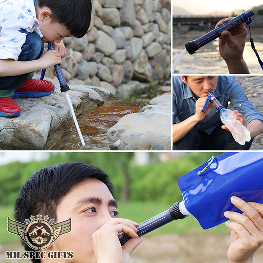 Water Filter Purifier Straw & Kit