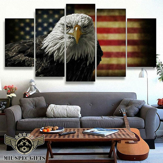 5 Panel American Eagle Wall Canvas
