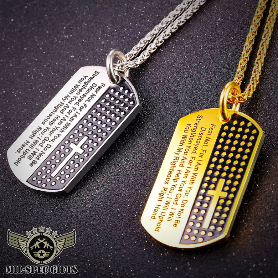 Bible verse dog tag necklace milspecgifts bible verse dog tag necklace mozeypictures Image collections