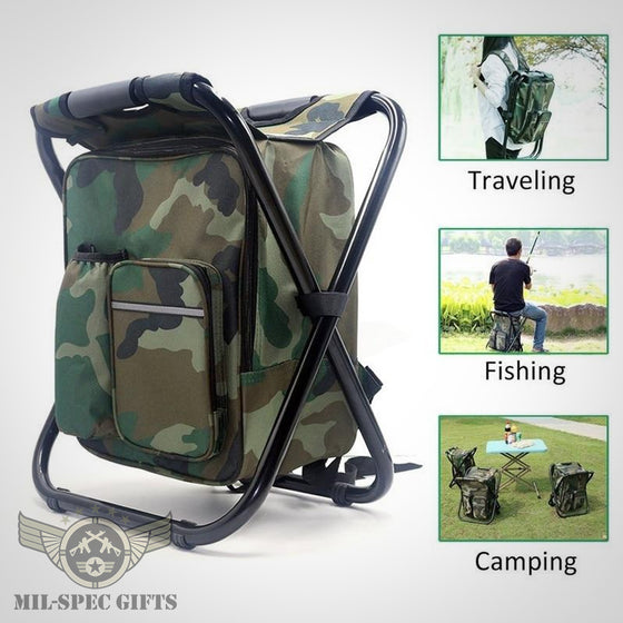 Folding Chair with Cooler Backpack