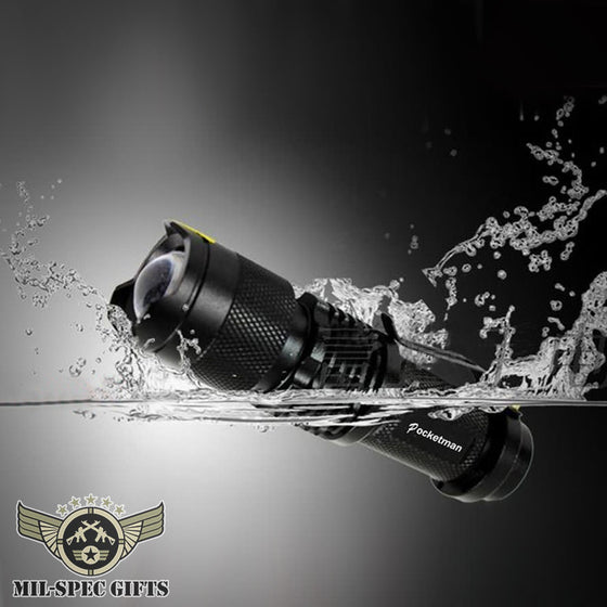 Mini 2000 Lumen Waterproof LED Flashlight