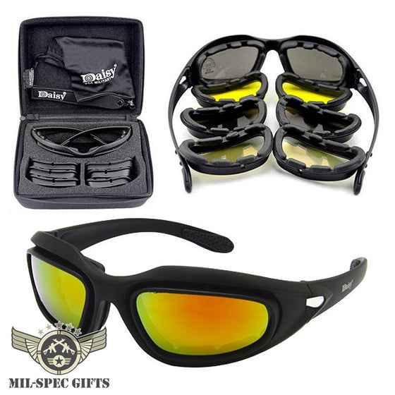 Polarized Anti-Dust Military Sunglasses 4 Lens Kit