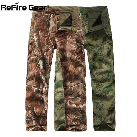 Shark Skin Soft Shell Tactical Military Camouflage Pants