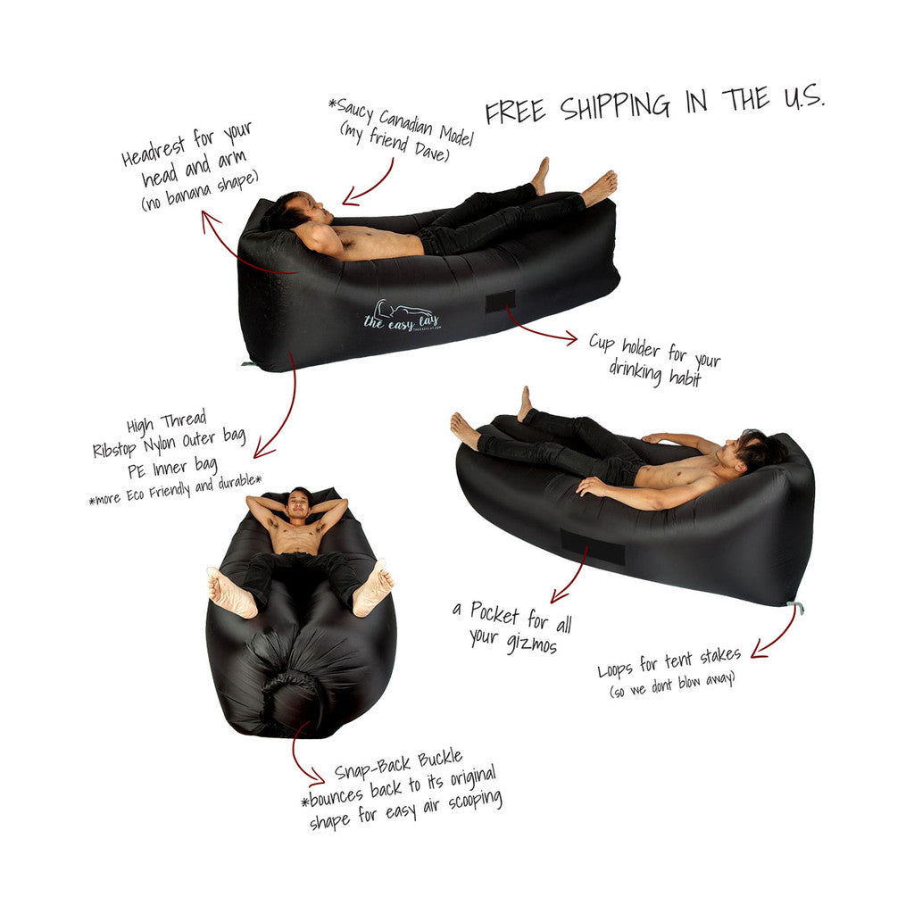 <center>The Easy Lay™ V. 2 with Head Rest + our Snap-back Buckle!