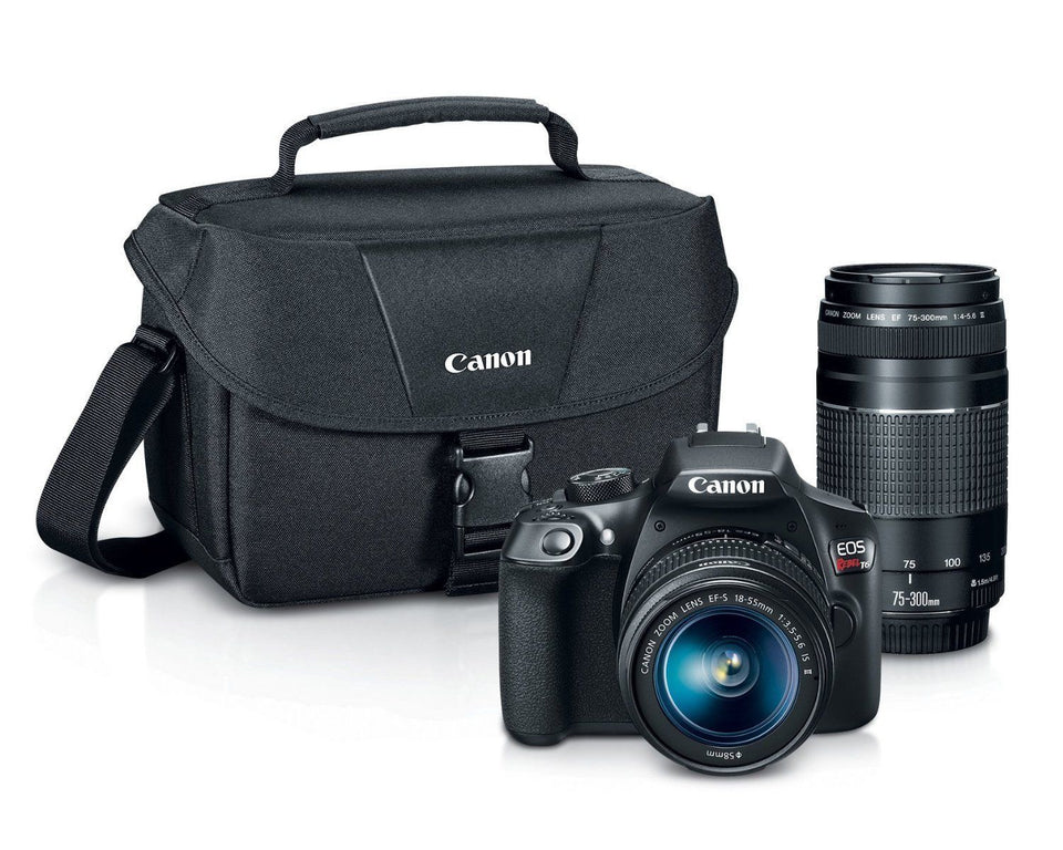 Canon EOS Rebel T6 DSLR Camera Kit with 18-55mm & 75-300mm Lenses - MCTTC TECH STORES