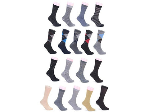 Focus Men's Dress Socks: 12- or 30-Pack