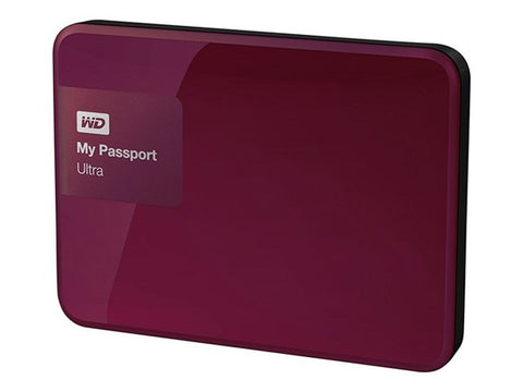 Western Digital My Passport Ultra 2TB Hard Drive Berry