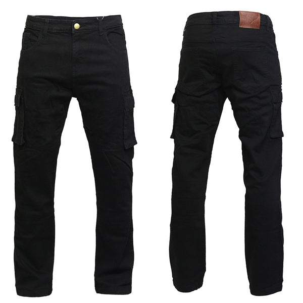 Bikers Reinforced Cargo Protective Trouser With Aramid Lining Black