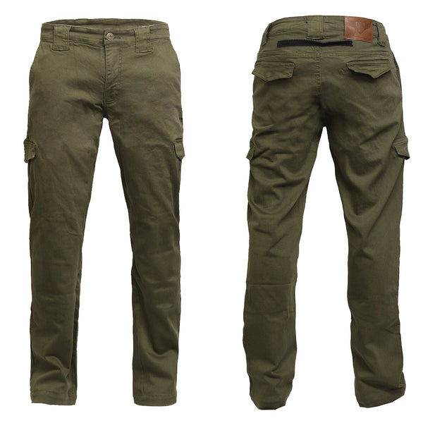 Bikers Reinforced Cargo Protective Trouser With Aramid Lining Khaki