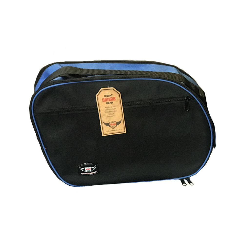 Pannier Liner Bag for Honda Varadero VFR800 (Black/Blue)