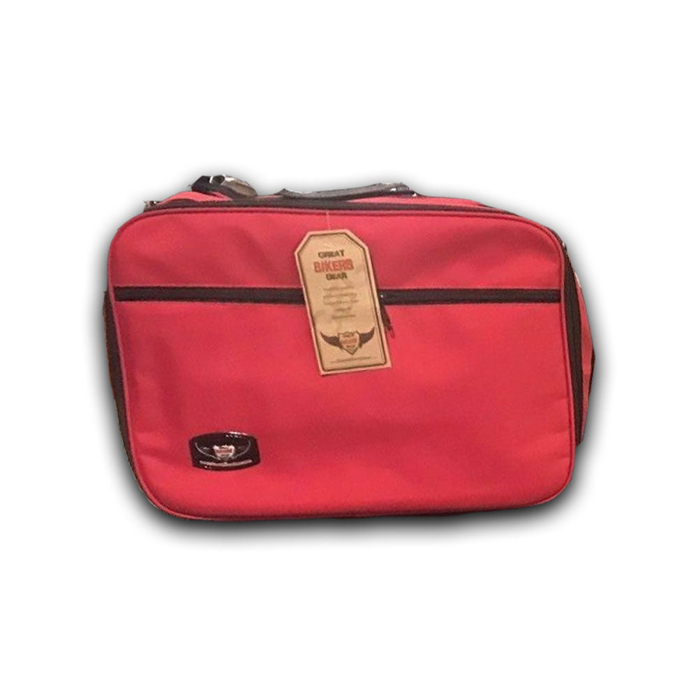 Pannier Liner Bags Inner Luggage Bags for TRIUMPH TIGER 800/800XC Bike (Red)