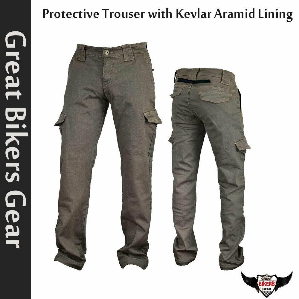 Bikers Reinforced Cargo Protective Trouser With Aramid Lining Grey