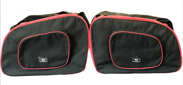 Pannier Liner Bags to fit BMW Motorbike K1100RS (Black/Red)