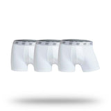 CR7 Mens Cotton 3 Pack Trunks - White