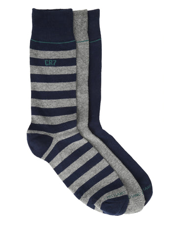 CR7 Men's 3 pack socks - Navy