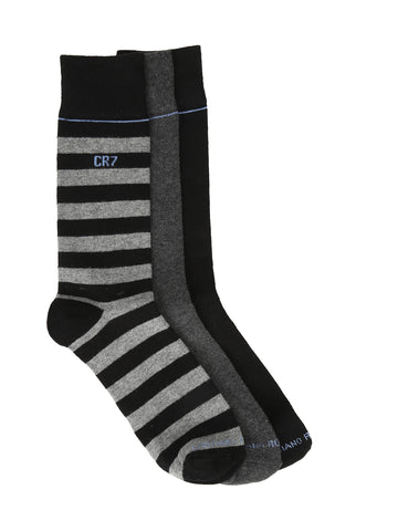 CR7 Men's 3 pack socks - Black
