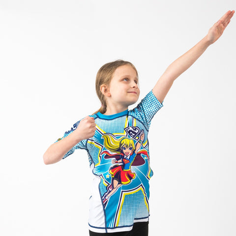 Supergirl Short Sleeve Rash guard