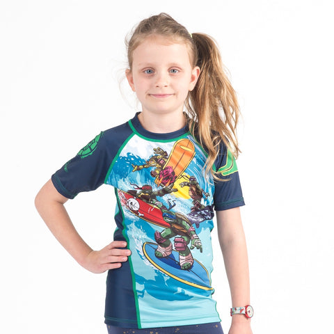 TMNT Surfin' Short Sleeve Rash guard