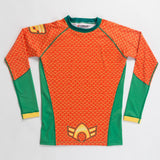 Kids Aquaman Long Sleeve Rashguard