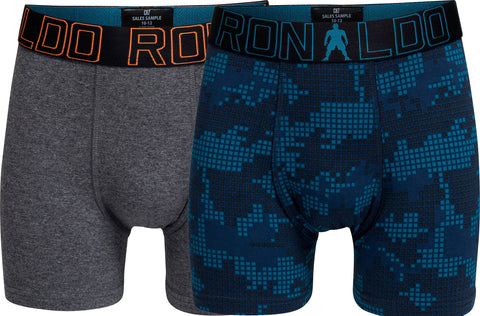 CR7 Boys 2 Pack - Mixed Cotton Stretch