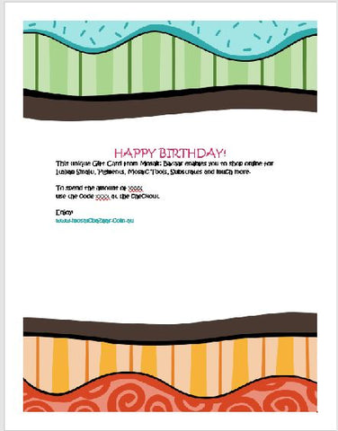 Gift Card Birthday