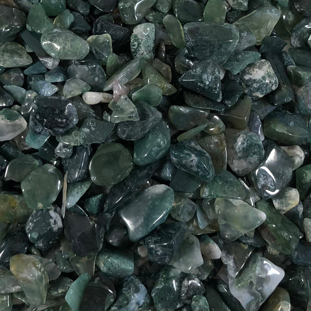 Crystal Chips- Moss Agate