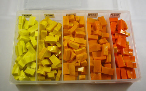 Smalti Sample Box- Yellow and Orange Spectrum