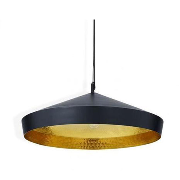 BEAT FLAT PENDANT BLACK - Fine Bone Luxury Living