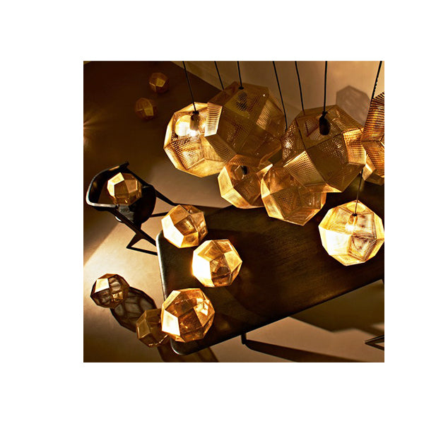 ETCH MINI CHANDELIER BRASS