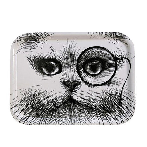 CAT MONOCLE TRAY - Fine Bone Luxury Living