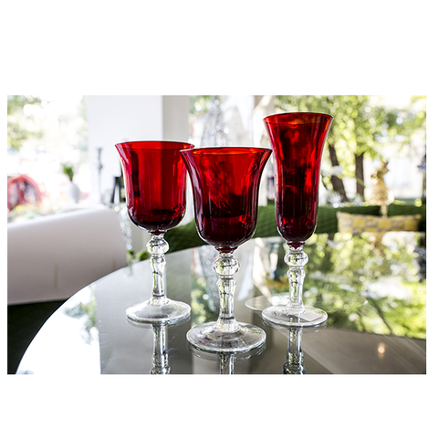 RED ELEGANCE GLASSES FOR CHAMPAGNE - Fine Bone Luxury Living