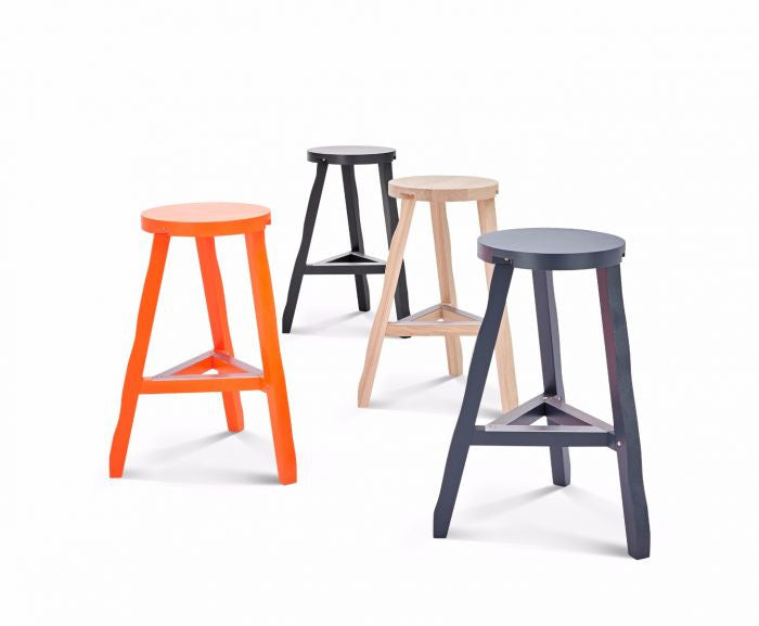 OFFCUT STOOL 650MM BLACK