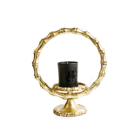 CANDLEHOLDER BAMBOO L - Fine Bone Luxury Living