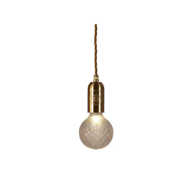 CRYSTAL BULB PENDANT FROSTED - Fine Bone Luxury Living