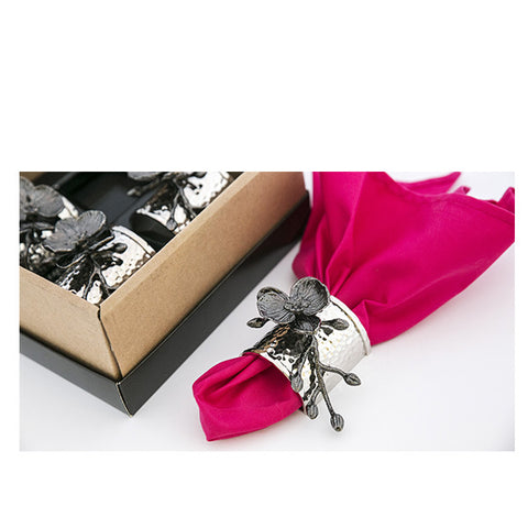 NAPKIN RING BLACK ORCHID