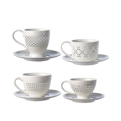 CUPS AND SAUCERS - Fine Bone Luxury Living