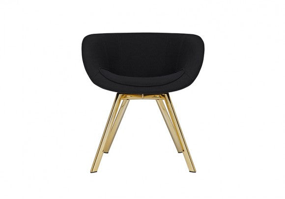 SCOOP CHAIR LOW BRASS - Fine Bone Luxury Living