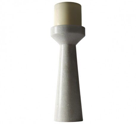 STONE CANDLE HOLDER TALL