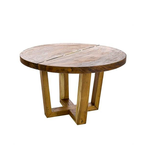 DINING TABLE THICK ROUND SUAR WOOD - Fine Bone Luxury Living