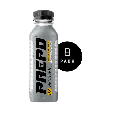 PREPD RECOVER DRINK – MANGO & PASSIONFRUIT ( 8 BOTTLES )