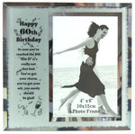 60th Birthday Photo Frame - Rustic Vintage Charm
