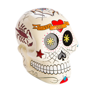 Candy Skull Money Box - Rustic Vintage Charm