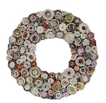 Round Photo Frame Made From Rolled Paper - Rustic Vintage Charm