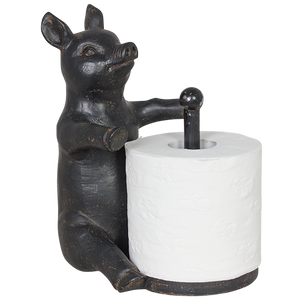 Pig Toilet Roll Holder Wall Mounted - Rustic Vintage Charm