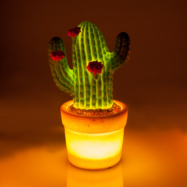 Cactus Table Lamp - Rustic Vintage Charm