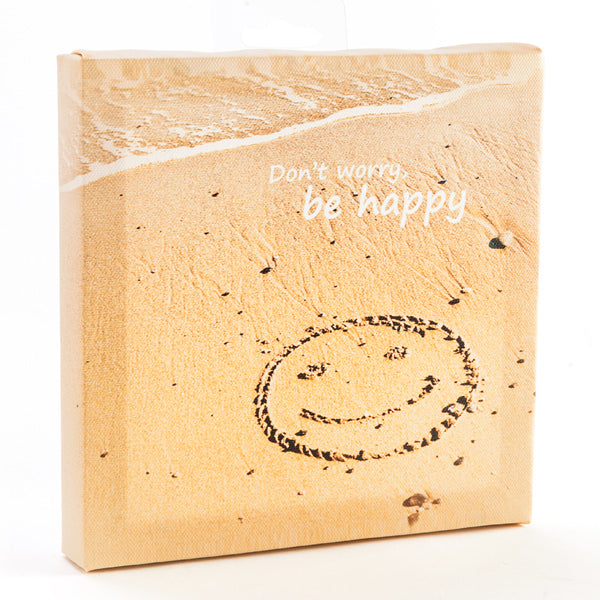 Canvas Dont Worry Be Happy - Rustic Vintage Charm