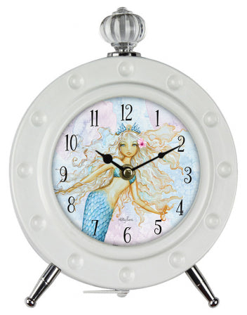 Clock Mermaid - Rustic Vintage Charm